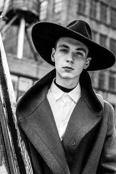 Yuri Pleskun. Wide brim hat
