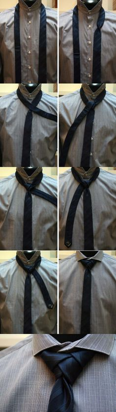 Tie Knots: How to / Knowledge: Eldredge Knot Fashion Moda, Look Fashion, Womens Fashion, Fashion Tips, Sharp Dressed Man, Well Dressed Men, Looks Style, Looks Cool, Essentiels Mode