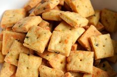 These are sort of like Cheez-Its that got all dressed up for a fancy holiday party. They also make a great gift .