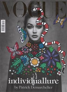 Magazine Cover Doodle Art by Ana Strumpf & Hattie Stewart Re.Cover Magazine Art by Ana StrumpfRe.Cover Magazine Art by Ana Strumpf Art Design, Art Photography, Illustration, Doodle Art, Vogue Covers, Graphic Design Inspiration, Cover Art, Pop Art, Cover Design