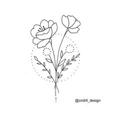 You do things… Tattoo Sketches, Drawing Sketches, Tattoo Drawings, Line Art Tattoos, Tatoos, Flower Tattoo On Ribs, Flower Tattoo Designs, Tattoo Flowers, Line Art Flowers