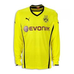 ee520d758bc Borussia Dortmund Home Long Sleeve Soccer Jersey Customized Any Name And  Number-High quality but