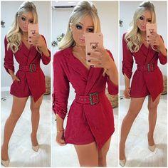 """5c531eae5 Guapa Vip Store on Instagram  """"ESGOTADO ❌Mais um macaquinho blazer LUXO  para morrer de amoressss 😱😍😍😍 Fazendo um estilo elegante fofo que  amamossss!!!"""