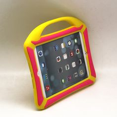 iPad mini cases and covers for girls with handle Yellow