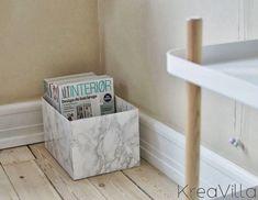 """KreaVilla: Magasinholder i """"marmor"""" DIY"""