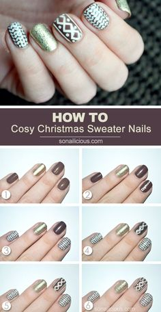Christmas Sweater Nails – Tutorial (via Bloglovin.com )
