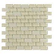 Pure Vanilla Mix Brick Glass Mosaic