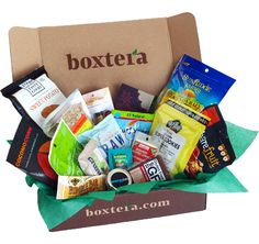 Boxtera -- monthly subscriptions of natural, healthy snacks delivered to your office, dorm or home door. Each box includes 20-22 servings of snacks!