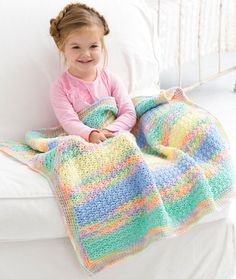Tropical Baby Blanket Free Crochet Pattern in Red Heart Yarns