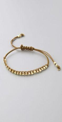 Single Petit Golden Nugget Adjustable Bracelet $18