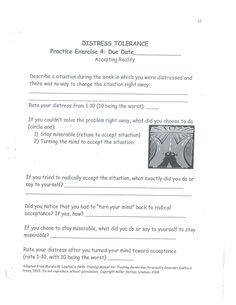 Distress Tolerance Worksheet for Children | Child Therapy Tools ...