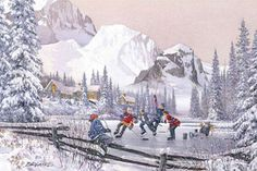 Laird, the He Shoots He Scores wall mural from Murals Your Way will add a distinctive touch to any room. Xmas Pictures, Winter Pictures, Winter Szenen, Murals Your Way, Winter Painting, Christmas Drawing, Vintage Winter, Snow Scenes, Christmas Scenes