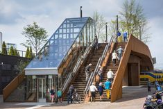 Paleisbrug in 's-Hertogenbosch by Benthem Crouwel -      Netherlands, photo by Jannes Linders