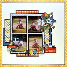 layout made using Boys Rule Scrapbook Kits March kit featuring Echo Park A Boy's Life. Also using March sketch from Boys Rule Baby Scrapbook Pages, Kids Scrapbook, Scrapbook Sketches, Scrapbook Page Layouts, Scrapbook Paper Crafts, Scrapbook Supplies, Scrapbook Cards, Scrapbooking Ideas, Paper Crafting