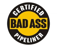 Helmet Sticker Label Plumbing Pipe Pipeliner With An Attitude Hard Hat Decal