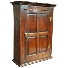 Early 18th Century Oak and Fruitwood Hanging Cupboard at 1stdibs