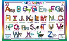 ABC Animals Placemat - TotTalk