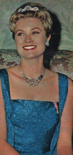 Gracia de Mónaco con la tiara de Van Cleef & Arpels.