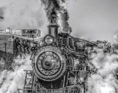 Steam Train Cross Stitch Pattern