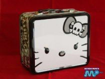 Hello Kitty Mad Black Gothic Punk Tin Lunch or Figurine Box Vintage Retro Style CLASSIC COLLECTABLE [Official Licensed Merchandise] $36.99