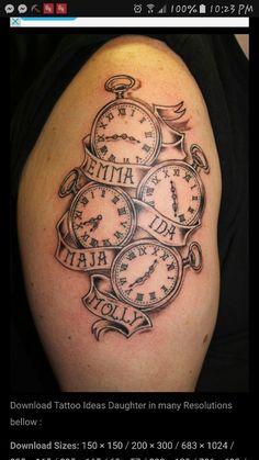 ideas tattoo ideas for kids names for men diy tattoo - diy tattoo images - diy tattoo id Mama Tattoos, Baby Name Tattoos, New Tattoos, Cool Tattoos, Tattoo Baby, Tatoos, Spouse Tattoos, Name Tattoos For Moms, Black Tattoos