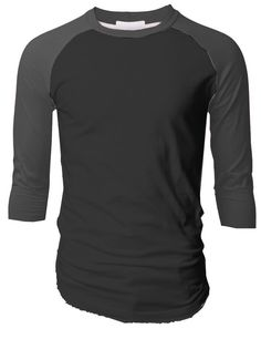 TL Men s Baseball Crew Neck Cotton Long or 3 4 Sleeve Essentail Raglan Tee  Shirts (SMALL 430799138e3
