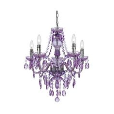 AF Lighting 8526 Purple Five Light Mini Chandelier ($158) ❤ liked on Polyvore featuring home, lighting, ceiling lights, chandeliers, chrome, indoor lighting, chrome chandelier, mini chandelier lighting, incandescent lamp and purple chandelier