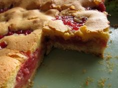 Brown Butter Rhubarb Ginger Bars  (adapted from the The Big Sur Bakery Cookbook)