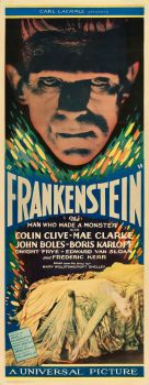 Wow!...an original Frankenstein Insert from 1931.  Apparently the only one known in existence.  Via Heritage Auctions
