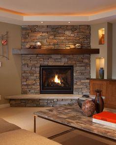 corner fireplace mantel ideas