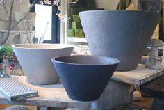 Contemporary Belgian Stoneware Pots - HV Series   Detroit Garden Works