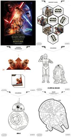 FREE Printables - set of Star Wars activity sheets including Star Wars coloring pages, activities and games.