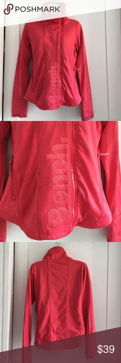 Bench Pink Full Zipup Jacket size L Preowned Bench Pink Full Zipup Jacket size L. Fleece lined. Has thumbholes. Light stains. Please look at pictures for better reference. Happy shopping! Bench Jackets & Coats