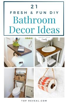 Similar to the kitchen, the bathroom requires a bit more work. Which typically means a bit more money. This is when I turn to DIY projects! A simple, DIY Bathroom Decor Ideas search can lead you to some of the most creative ideas. | Decoration | Decoration Idea | DIY Decor | House Decor | Interior Decorating | Room Decorations