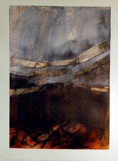 Karen L Darling | unknown title | cold wax, oil, charcoal and mixed media on paper /sm