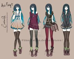 For inspiration Avi's outfits by bianca-storm.deviantart.com on @deviantART