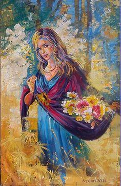 Photo: Acrylic  *Village's girl*