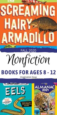 New Middle Grade Nonfiction Books, Fall 2020   Imagination Soup Writing Lesson Plans, Writing Lessons, Writing Activities, Writing A Book, Reading Comprehension Skills, Reading Strategies, Best Non Fiction Books, Nonfiction Books For Kids, National Geographic Kids