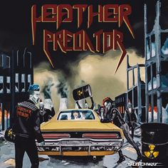 Artwork for Leather Predator's debut EP made by #Glitchway. #Zombies #punks