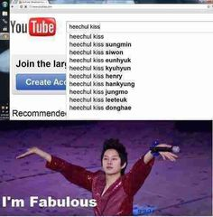 Heechul just spreadin' the Heechul love :) actually happens