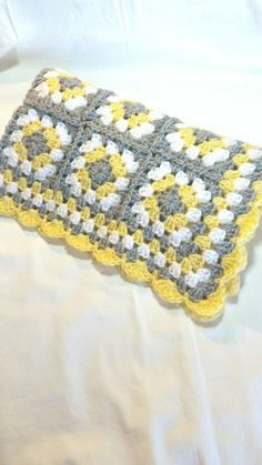 Crochet Baby Blanket Granny Square Baby Blanket Gray Grey We are want to say tha. Crochet Baby Blanket Granny Square Baby Blanket Gray Grey We are want to say thanks if you like to Crochet Motifs, Crochet Squares, Crochet Blanket Patterns, Crochet Granny, Baby Blanket Crochet, Easy Crochet, Crochet Stitches, Knitting Patterns, Beginner Crochet