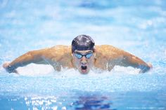 Image detail for -Swimming: 2012 Summer Olympics: Closeup of USA Michael Phelps in action, dive during Men's 200M Butterfly Final at Aquatics Centre. Phelps wins silver to tie record for most career medals in any sport