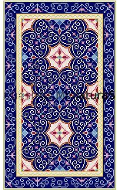 Miniature Rugs & Carpets: Alfombra azul