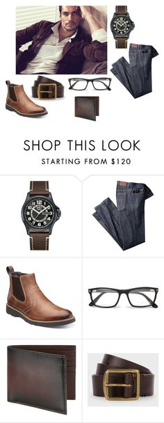 """""""strong silent type"""" by nbeaudry on Polyvore featuring Luminox, Florsheim, Tom Ford, Saks Fifth Avenue Collection, Paul Smith, men's fashion and menswear"""