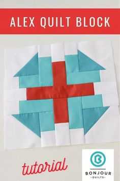 Alex Quilt Block - a free quilt block pattern and tutorial at Bonjour Quilts. A great 12 (finished) block that can be made with scraps. Quilt Block Patterns 12 Inch, Pattern Blocks, Quilt Blocks, Quilt Patterns, Purple Quilts, Quilt As You Go, Easy Stitch, Scrappy Quilts, Longarm Quilting