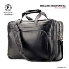 MEN'S & WOMEN'S: UNISEX: LEATHER BRIEFCASE/LAPTOP BAGS.  Colors: BlacK, Brown. Product Code: LBG072  Price-$150  100% Guaranteed Pure Leather. Delivery: 10 to 15 Working Days 50% Discount on all our Products. Limited Time Offer. Free Shipping on Orders Over $100. Laptop Bags, Leather Briefcase, Delivery, Unisex, Pure Products, Free Shipping, Colors, Brown, Black