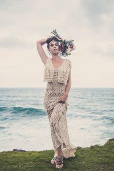 """Handmade Crochet Wedding Dress """"LUNA LLENA"""""""