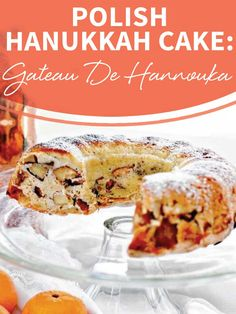 Hanukkah is right around the corner so pin now and make this Polish Hanukkah Cake: Gateau De Hannouka recipe later! http://www.joyofkosher.com/recipes/gateau-de-hannouka-polish-hanukkah-apple-cake/