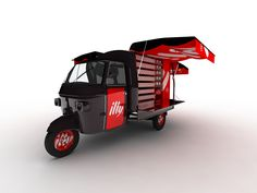 Very nice Ape concept for illy Coffee #ape #coffee #cart