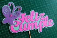 "7 Me gusta, 1 comentarios - 🚩Banderines&toppers 3D 🇻🇪 (@banderines3dcarola) en Instagram: ""#banderinesparatortas #caketoppers #banderines3d #mariposas #niñas 🎇🎁🎀"" 30th Party, Unicorn Cake Topper, Paw Patrol Birthday, Fiesta Party, Cupcake Toppers, Baby Gifts, 3 D, Origami, Diy And Crafts"